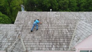Shamrock roof-inspection-side - Roofing