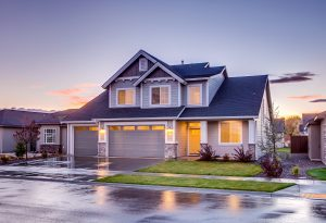 Shamrock - Roofing blue-and-gray-concrete-house-with-attic-during-twilight-186077
